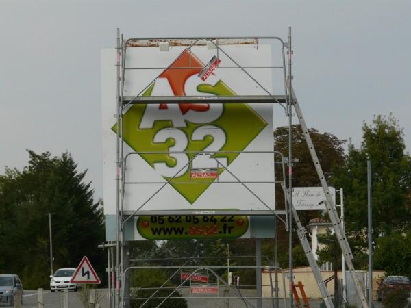 signalétique Panneau 4×3 m realisé par FreeCom pour AS32