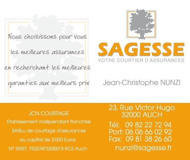 Creation De Cartes Visites Et Facade Du Magasin A Auch Sagesse