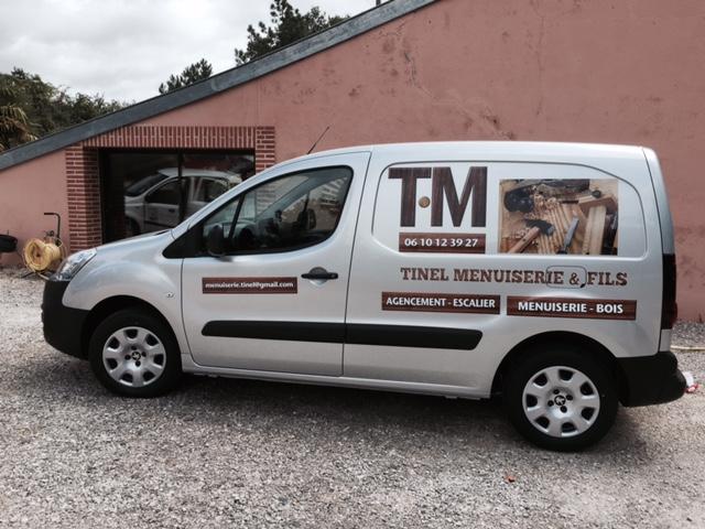 Marquage publicitaire d'un vehicule pres de Toulouse