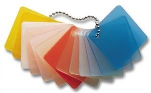 plexi diffusant de couleur