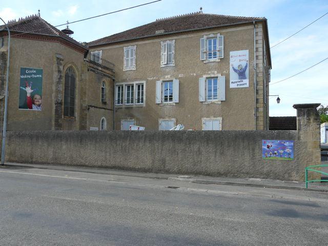 Panneaux publicitaire de l'école notre dame à Mirande par FreeCom