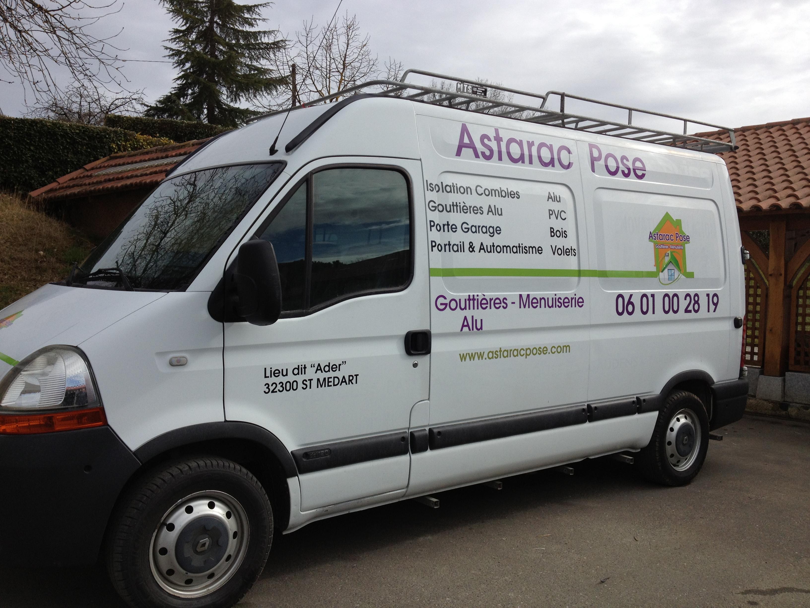FreeCom realise un marquage de vehicule pour Astarac Pose
