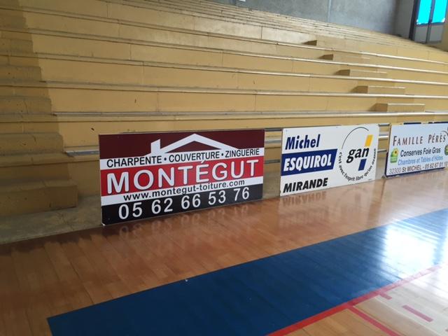 Panneaux publicitaire basket Mirande
